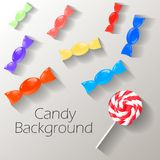 Abstract background with sweets with place for text. Vector vector illustration