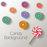 Abstract background with sweets with place for text. Vector stock illustration