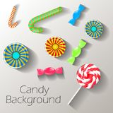 Abstract background with sweets with place for text. Vector royalty free illustration