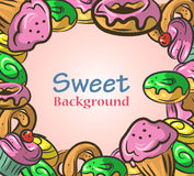 Abstract background with sweets. Vector illustration EPS10 royalty free illustration