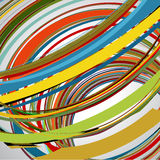 Abstract background, swirling lines, colorful vector. Illustration Royalty Free Stock Image