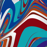 Abstract background, swirling lines, colorful vector illustration. Blue, red, brown, orange colors stock illustration