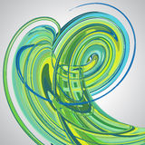 Abstract background, swirling lines, colorful vector. Illustration. Green, blue colors Stock Images