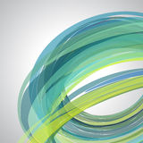 Abstract background, swirling lines, colorful vector. Illustration. Green, blue colors Stock Image