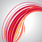 Abstract background, swirling lines, colorful vector illustration. Orange, red, pink colors stock illustration