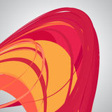 Abstract background, swirling lines, colorful vector illustration. Orange, red, pink colors royalty free illustration