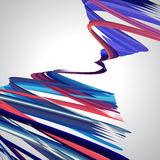 Abstract background, swirling lines, colorful vector. Illustration. Pink, blue, purple colors Royalty Free Stock Images