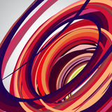 Abstract background, swirling lines, colorful vector  Stock Photo
