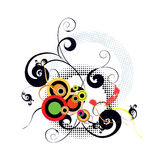 Abstract background with swirls and dots Royalty Free Stock Photos