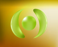 Abstract background and symbol Stock Image