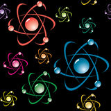 Abstract background with symbol of atom Royalty Free Stock Images