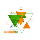 Abstract background with the symbol of India. The tricolor flag forfor Indian Republic day and Independence Day Stock Image