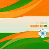Abstract background with the symbol of India. The tricolor flag forfor Indian Republic day and Independence Day Stock Images