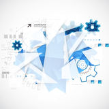Abstract background with technological blue elements. Royalty Free Stock Photography
