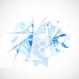 Abstract background with technological blue elements. Royalty Free Stock Photos