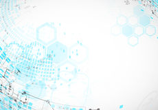 Abstract background with technological elements. Royalty Free Stock Images