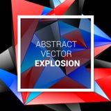 abstract background technology Το αφηρημένο υπόβαθρο εξερράγη το κόκκινο μπλε μαύρο λευκό απεικόνιση αποθεμάτων