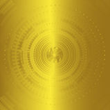 Abstract background technology circles golden color Stock Images