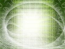 Abstract background of technology concept with glowing structura. L lights and binary code of one and zero royalty free illustration
