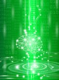 Abstract background technology concept in green light. Brain and human body heal ,technology modern medical science in future and global international medical Stock Images