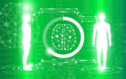 Abstract background technology concept in green light Royalty Free Stock Image