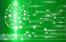 Abstract background technology concept in green light. Brain and human body heal ,technology modern medical science in future and global international medical Royalty Free Stock Photography