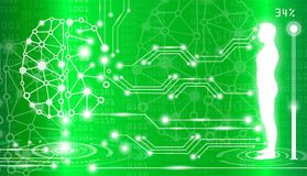 Abstract background technology concept in green light Stock Images