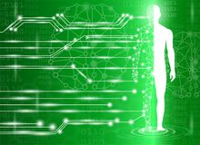 Abstract background technology concept in green light. Human body heal,technology modern medical science in future and global international medical with tests Royalty Free Stock Photography