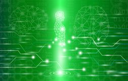 Abstract background technology concept in green light. Human body heal,technology modern medical science in future and global international medical with tests Stock Photography