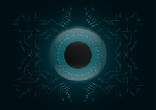 Abstract background; Technology Cyber security concept.  royalty free illustration