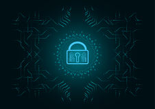 Abstract background; Technology Cyber security concept.  vector illustration