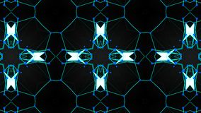 Abstract background with technology kaleidoscope. 3d rendering Royalty Free Stock Image