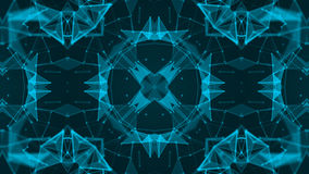 Abstract background with technology kaleidoscope. 3d render Royalty Free Stock Photo