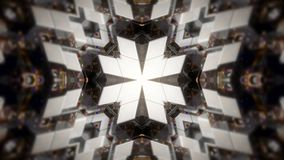Abstract background with technology kaleidoscope. 3d rendering Stock Photos