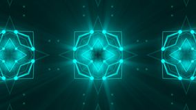 Abstract background with technology kaleidoscope. 3d rendering Stock Photography