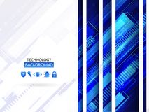 Hi-tech communication concept. Abstract background with technology lines and network protection icons. Hi-tech communication concept Stock Images