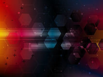 Abstract  background with technology shapes Stock Photography