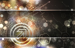 Abstract background, technology theme illustration Stock Images