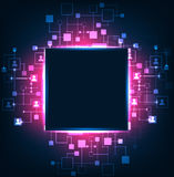 Abstract background, technology theme of social media. Royalty Free Stock Image
