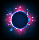 Abstract background, technology theme of social media. Stock Images