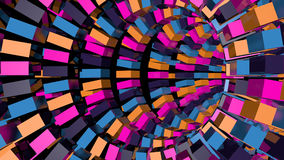 Abstract background with technology tunnel. 3d rendering Stock Photography
