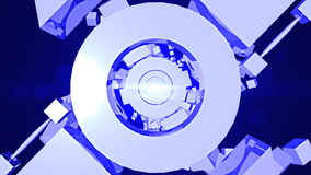 Abstract background with technology tunnel stock footage