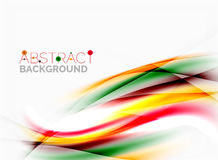 Abstract background template. Abstract background, colorful shiny blurred lines with light effects Royalty Free Stock Image