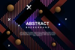 Abstract background template memphis modern neon geometric design. Vector futuristic poster flyer graphic minimal shape brochure retro cover banner page vector illustration