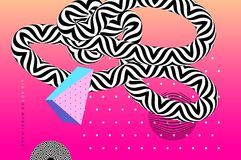 Abstract background template with op art elements Stock Photo