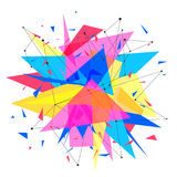 Abstract background template. Paper geometric polygon and triangle shapes explosion Royalty Free Stock Photography