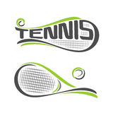 Abstract background on the tennis Royalty Free Stock Image