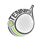 Abstract background on the tennis Royalty Free Stock Photography
