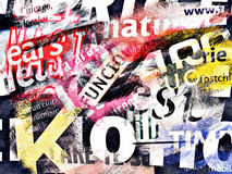 Abstract background with text Royalty Free Stock Photos