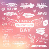 Abstract background with texts for love confession Stock Photo